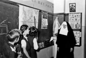 Sister teaching a class 1960's