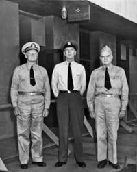 Fleet Admirals Chester W. Nimitz, Ernest J. King and Bill Halsey