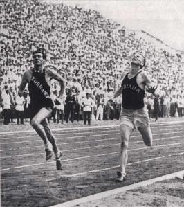 Zamperini tied 5000 meter world-record holder, Dan Lash, to qualify for the '36 Olympics as a high school runner