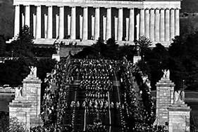 Entering Arlington National Cemetary