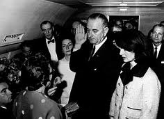 Lyndon B. Johnson  takes The Oath of Office