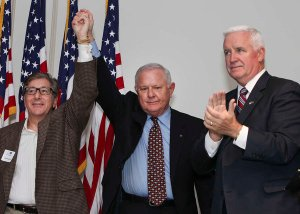 Finance Co-Chairs Vahan Gureghian and Bob Asher with Governor Corbett