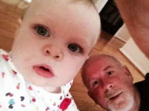 Me and my infant delinquent granddaughter, Harper Jeanine