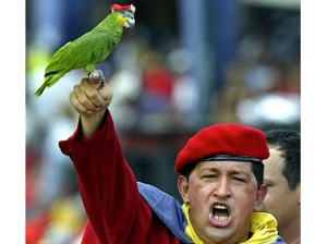 Hugo Chavez (left)